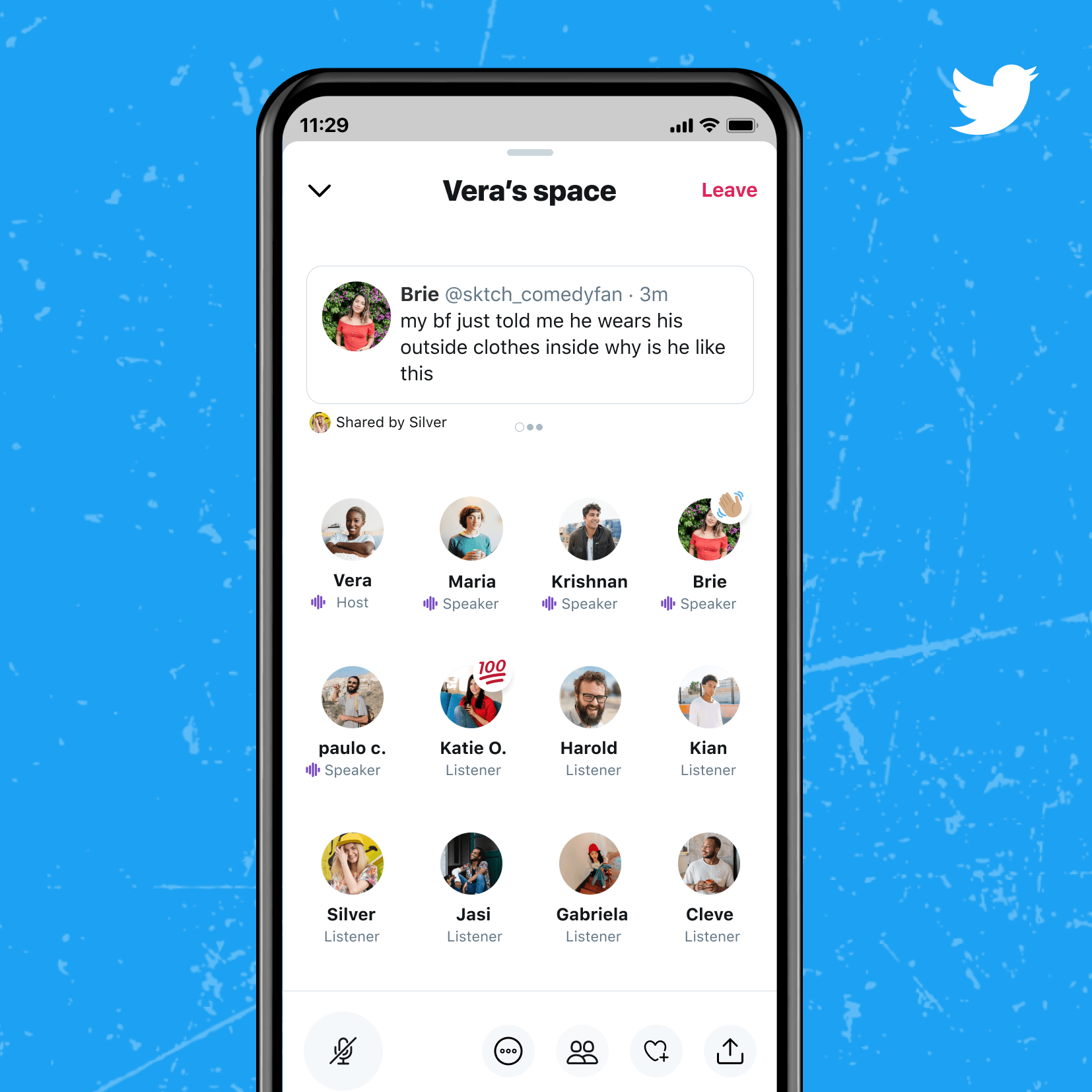 Twitter Spaces Allows you to send messages