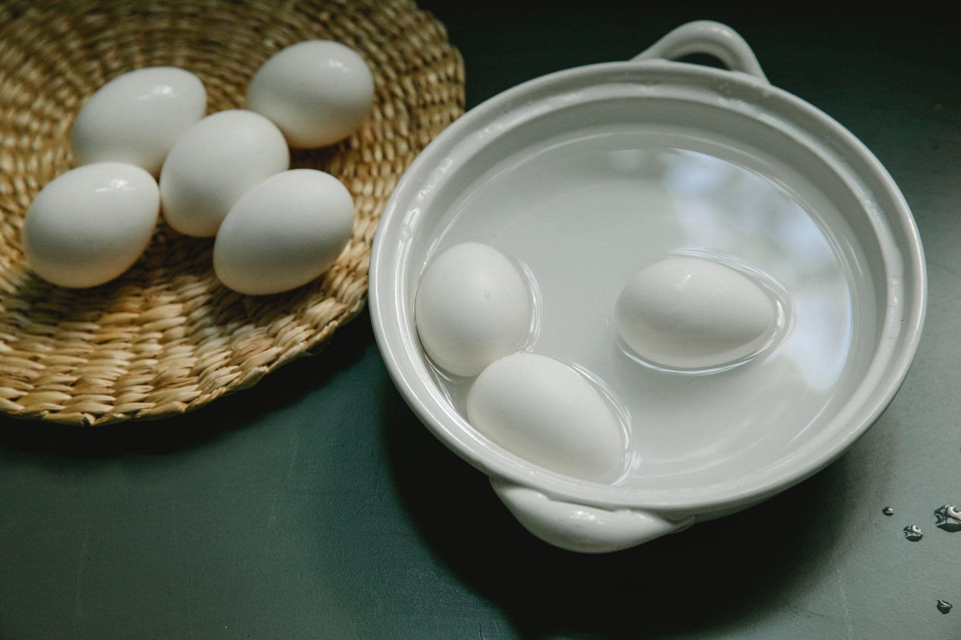 Why is it important to cover your pot while boiling eggs?