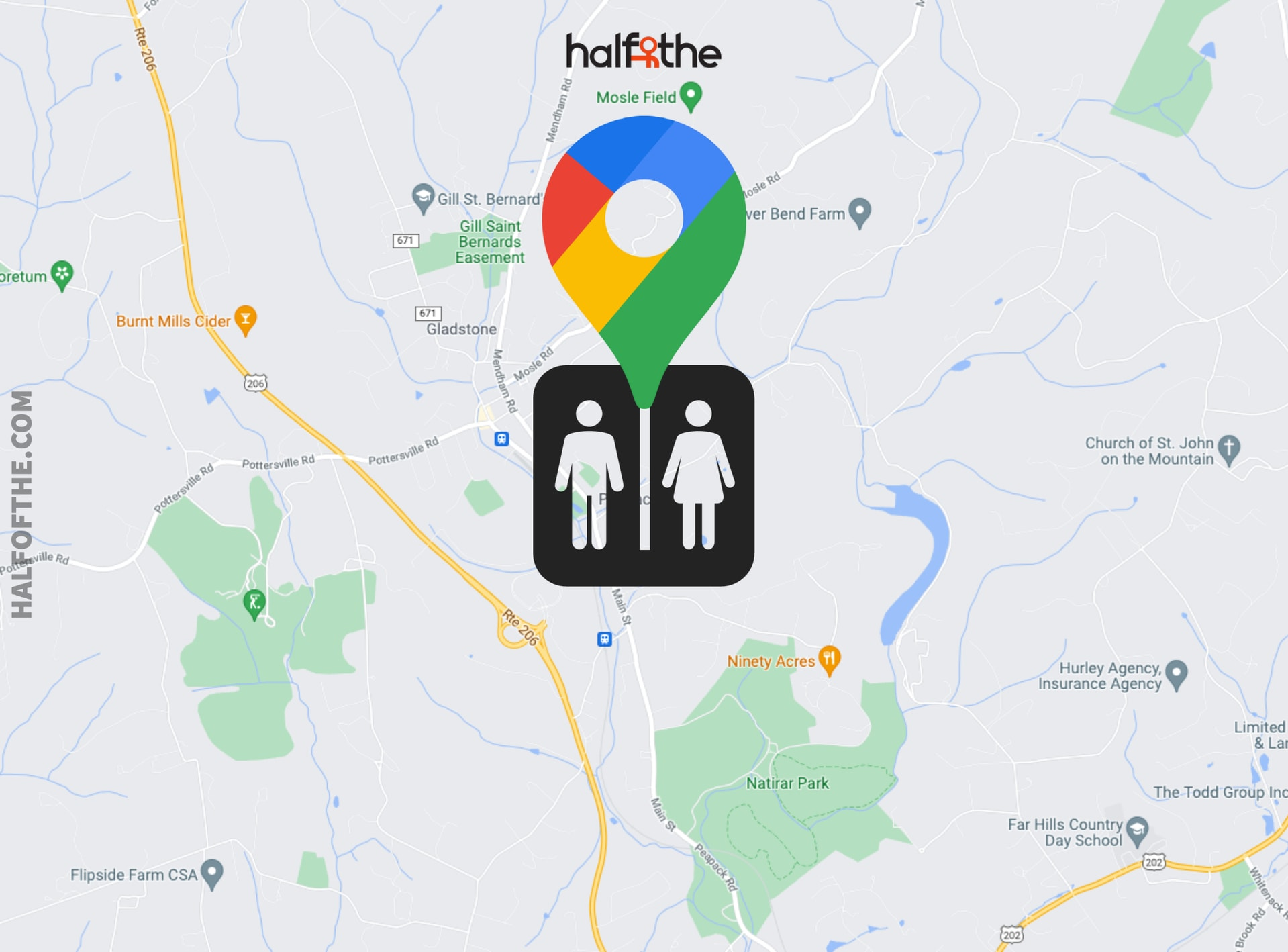 How to find public restrooms in Google Maps?