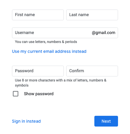 How to create a Google Account without having to use Gmail?